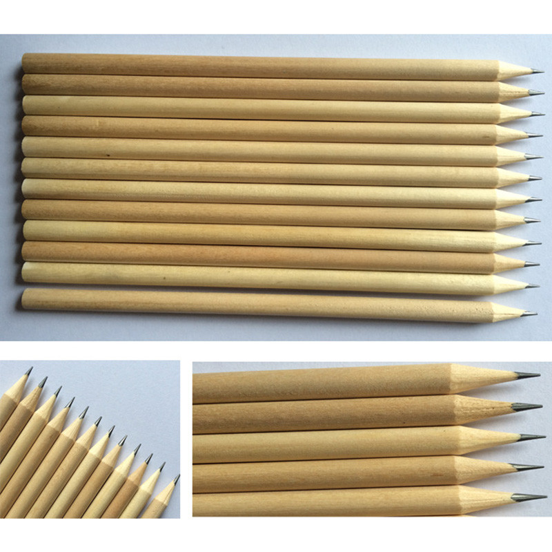 Customized logo nature color wood pencil for promotional