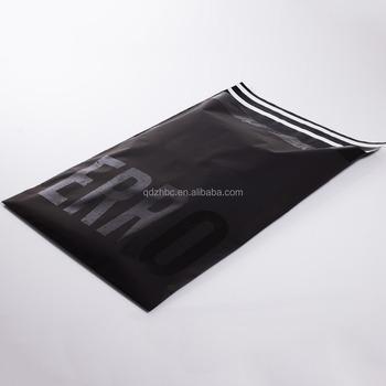 Custom Resealable Poly Bag Shipping Black Opaque Envelopes
