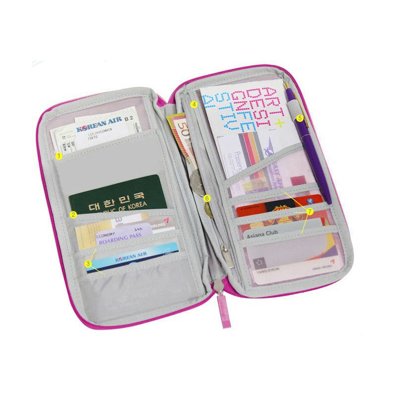 Hot Selling Multifunction outdoor travel <strong>Wallet</strong> for Passport Bag
