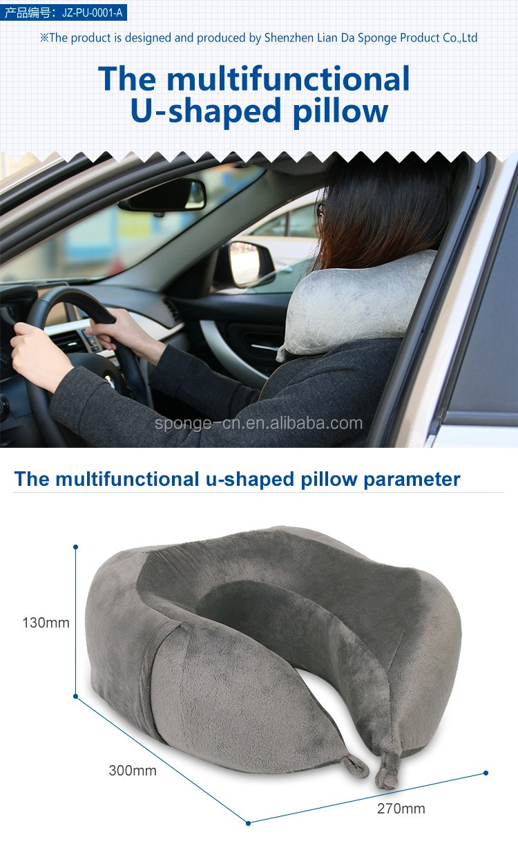 Home Design U-neck Travel Support Pillow Part - 50: The Comfort Adult Car Seat Neck Pillow, U Shaped Neck Pillow Travel Memory  Foam For