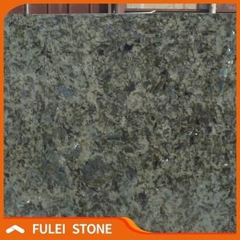 Green Madagascar Labradorite Lemurian Blue Granite Slab For Countertop