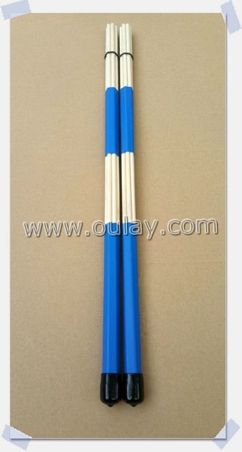 colorful 40cm drum brush sticks/drumsticks/bamboo sticks with rubber caps