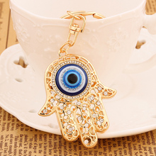 CZ diamond keychain Fashion Rhinestone Hand eye Metal Key Chains Ring Holder Charm Crystal Palm Keyring