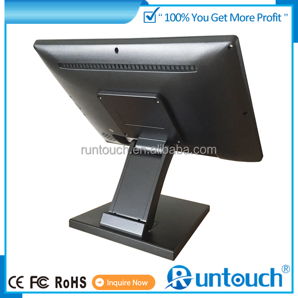 RUNTOUCH RT 1520 IP65 Metal Outdoor Enclosure 15 Inch LED Touchscreen 12 Volt DC LCD Monitor