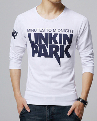 linkin park slim fit 95 cotton apparel white tee shirt customized new model men's t-shirt