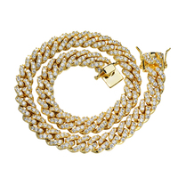 hiphop iced out cz 14k gold plated cuban link chain new gold chain design for men