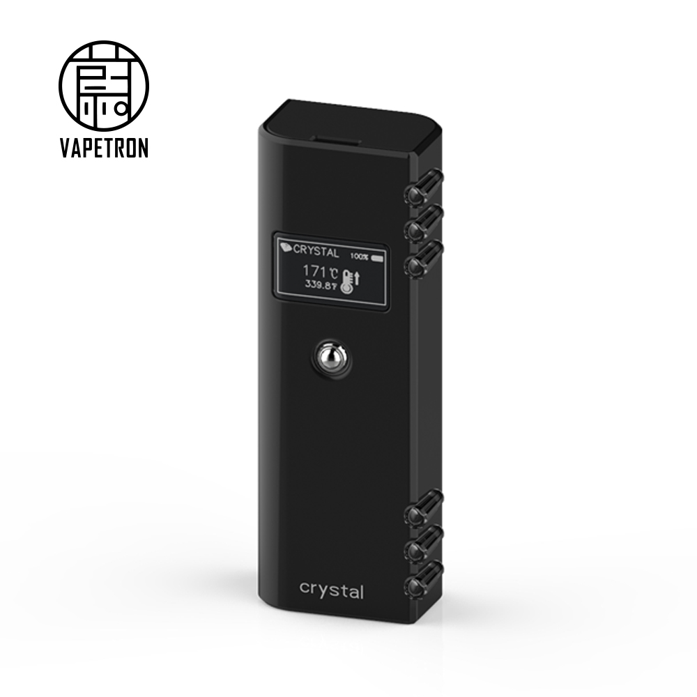 2018 VAPETRON ODM stylish appearance Portable Crystal vaporizer with with skin sensing switch dry herb vaporizer