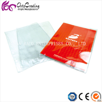 pvc / pp / pe clear plastic book cover for exercise book good protective
