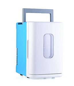 220v&12v plug car fridge/icebox/ horizontal mini fridge for home and auto with waist bags