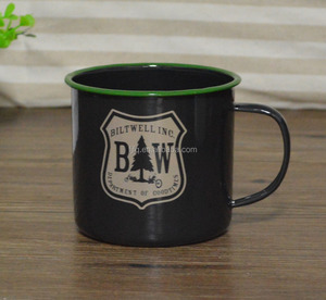 Dia 10cm Top Quality Promotion Enamel Coffee Mug Camping Mug