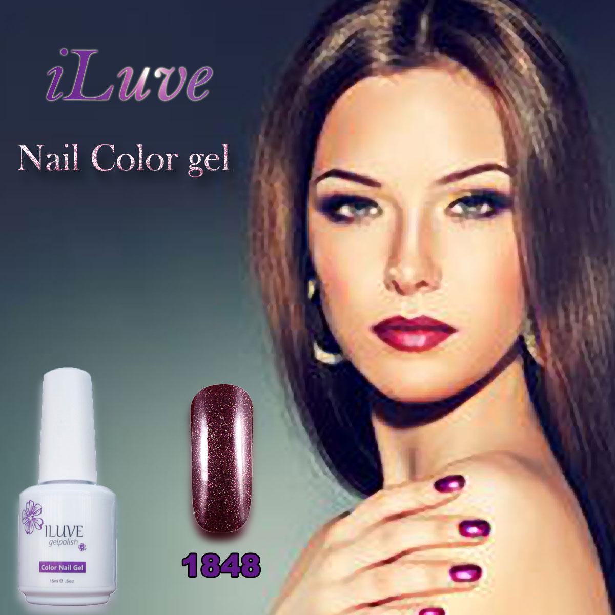 iLuve Professional Gelpolish HOT Fashion Nail Polish Soak off Nails Gel LED UV Nail Polish 15ml
