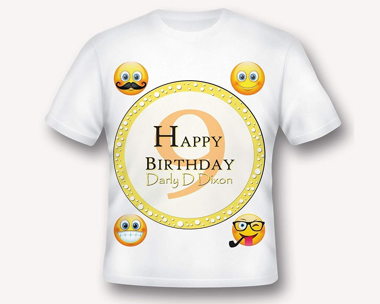 Emoji Birthday T Shirt Tee Printed TShirt