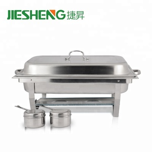 Elegantly Display 2 Chafing Fuel Holders Full Size Chafer Stainless Steel Chafing Dish Buffet with Folding Frame
