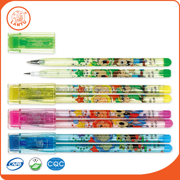 Lantu Low Price 2 In 1 New Design Art And Graphic Colorful Twin Pens