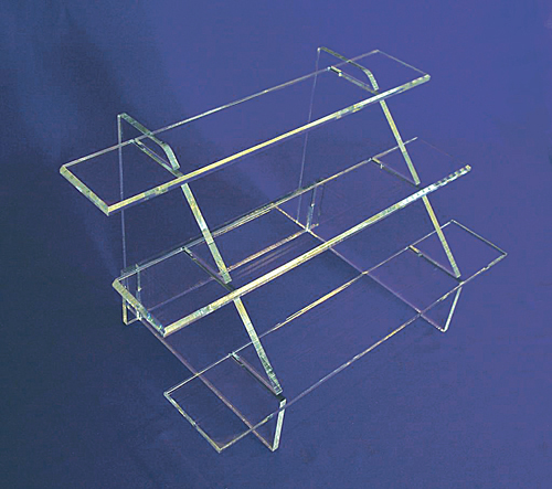 Detachable Clear Acrylic Stair Display, Small Anime Toy Shelf Display
