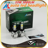 Hottest!ML led h7 headlight,headlight lancer 33w 3000 lumen d2s led headlights with best price