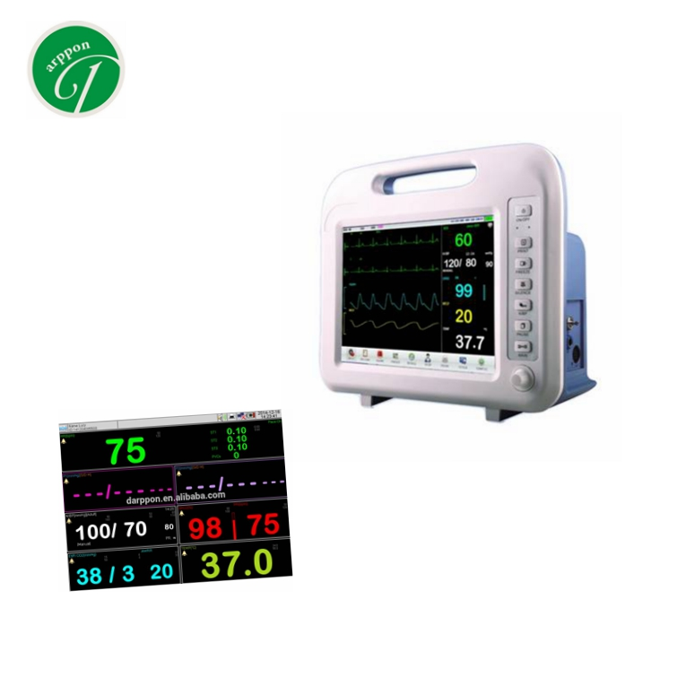 Adult, pediatric and neonatal multi parameter patient monitor etco2 spo2 capnography monitor