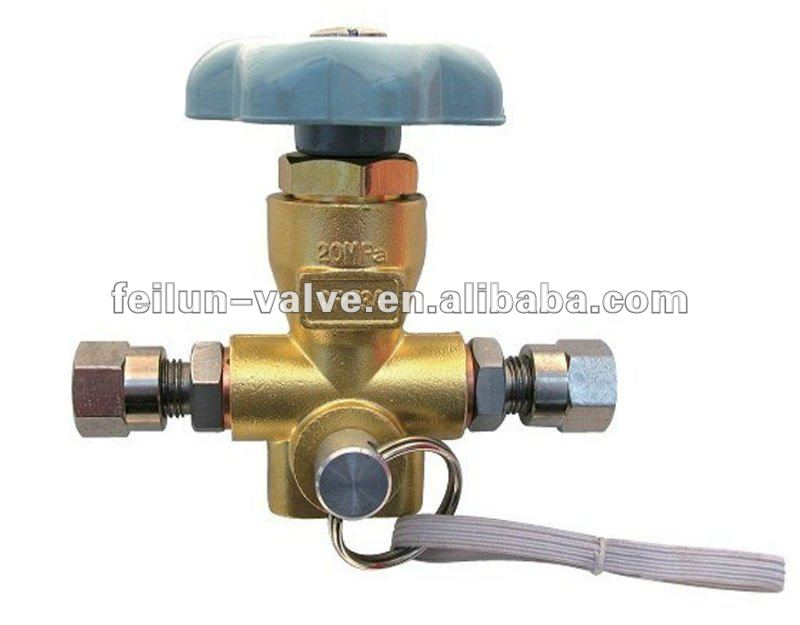 QF-T3A Brass CNG Car 6mm Pipe filling Valve(cng car parts)