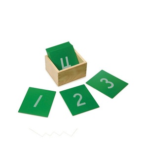 Factory Supply early learning teaching aids montessori math toys Sandpaper Numbers
