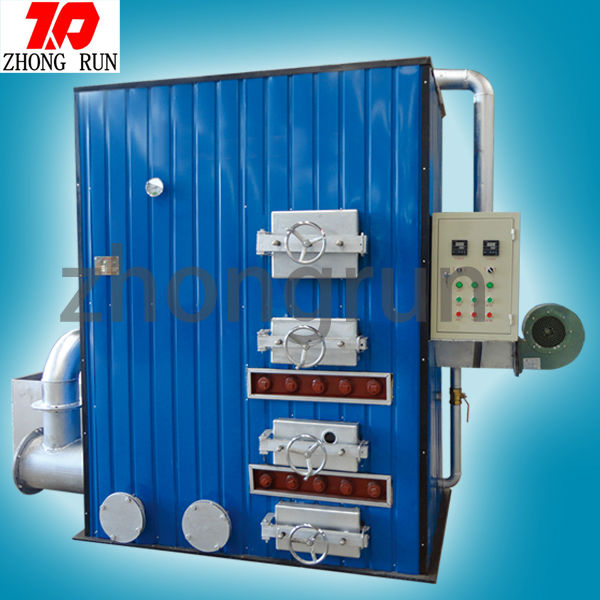 Coal burning steam boiler air heater for greenhouse&poultry farming