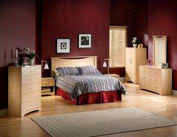 Bedroom Furniture Set In Natural Maple South S 3113 Bset