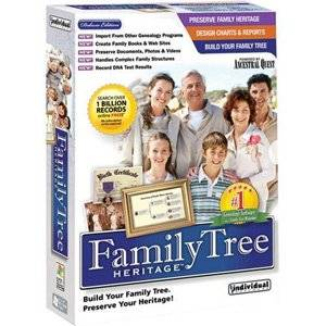 Individual Software Inc Family Tree Heritage Deluxe 7 Design Charts Reports Sm Box