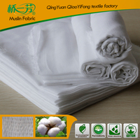 wholesale 100% cotton muslin fabric by the yard