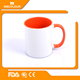 Inner handle colourful dye sublimation mugs wholesale coffee brand gifts with handle
