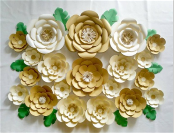 Wholesale Flowers Wall Wedding Decor Large Paper Flowers Backdrop ...