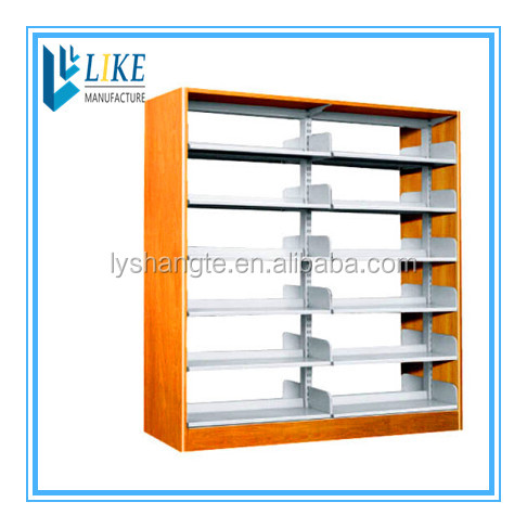 Wooden lateral plate single -column double-side bookshelf