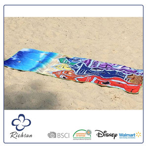 High Quality Weighted Beach Towel Stock, Double Sided Beach Towel Chair Cover