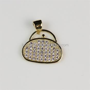 Fashion chic cheap zircon stones bag shape pendant jewelry gold fashion chic cheap zircon stones bag shape pendant jewelry gold plated top quality necklace pendant aloadofball Choice Image