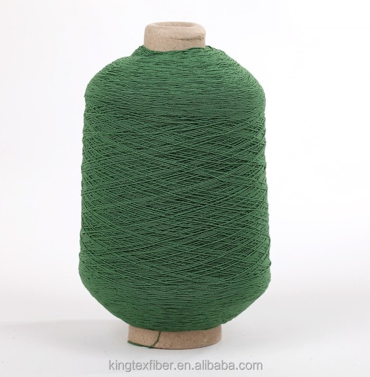 Colored Lycra / Rubber Covered Yarn for circular knitting machine