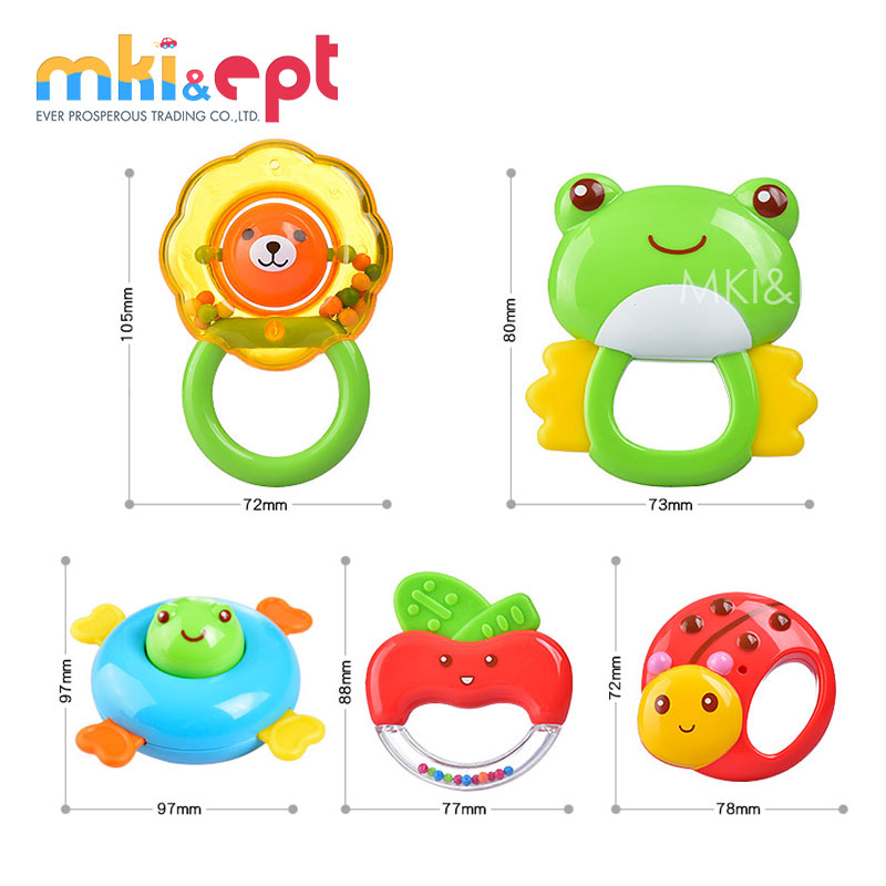 Lovable Style Non-Toxic Plastic Baby Rattle For Baby Gifts