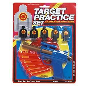 Target Practice Dart Gun Toy - 7 inch