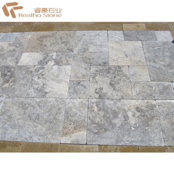Marble Silver Travertine Pavers Tiles For Outdoor Swimming Pool Coping