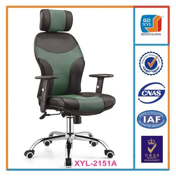 New Design Imported Leather Korea High Back Office Chair With Neck Support  For Boss To Work