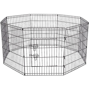 "Custom Portable Foldable Outdoor Backyard Stainless Steel Pet Playpen With Door 24""*8"