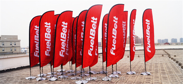 Outdoor Promotion Sail Beach Flying Feather Teardrop Advertising ...