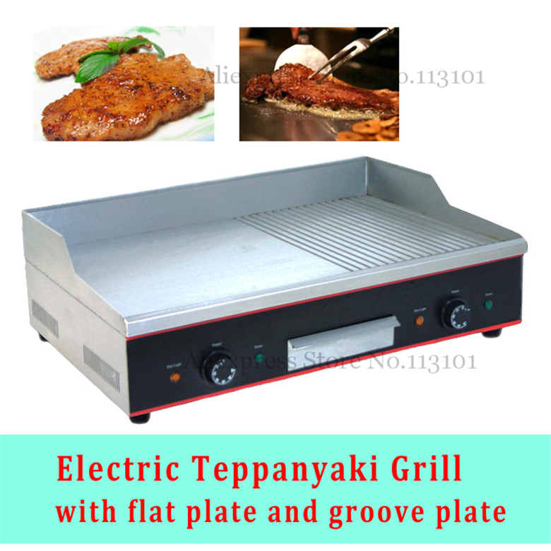 Stainless Steel Electric Grill Griddle Teppanyaki Griddle