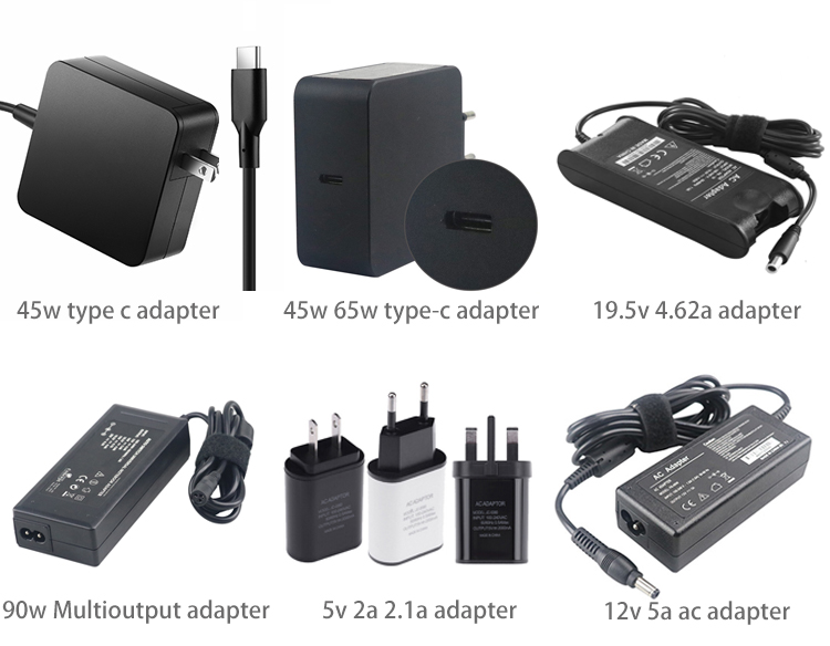 Hot Selling Square Shape Charger Type-c 65w 45w Power Adapter for Mobile Phone/Tablet/Laptop