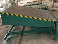 Yard ramp dock leveler can used for foklift and container