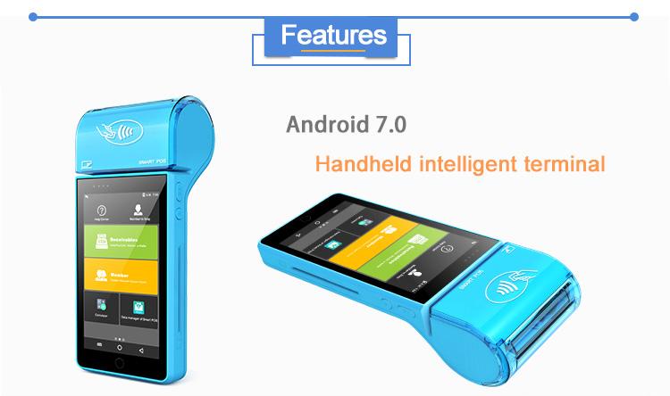 Mini tablet smart android software restaurant kassa handheld mobiele terminal apparaat pos machine