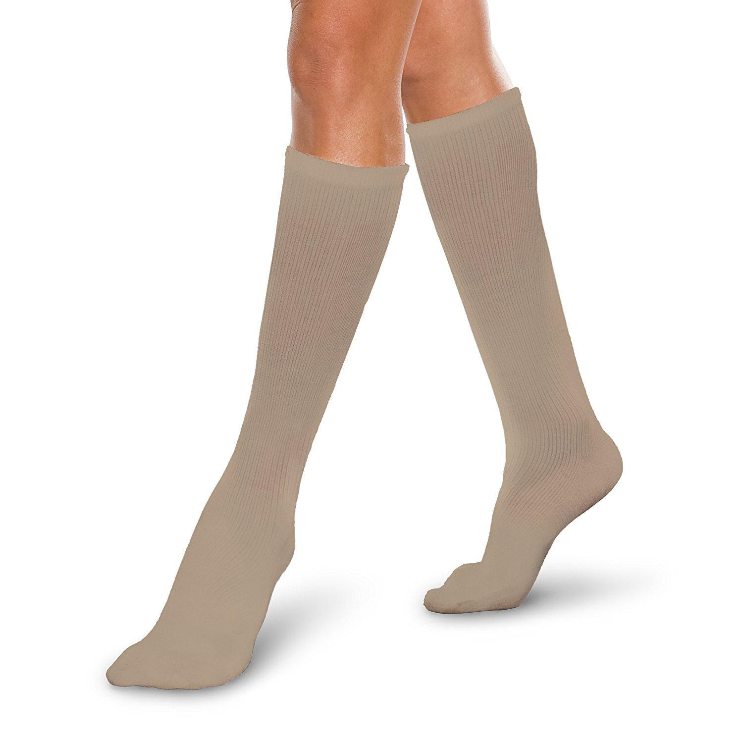 e4ecfcce87f Get Quotations · Therafirm Core-Spun Medical Compression Socks -Therafirm  LIGHT Graduated Knee High FTherafirm LIGHT Compression