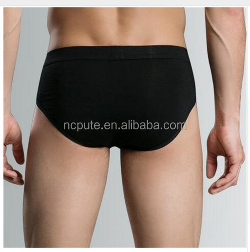 Bulk OEM Brand Hot Selling Men Briefs Underwear Cotton Sexy Solid Color Bamboo Mens Underwear Underpants Factory Retail