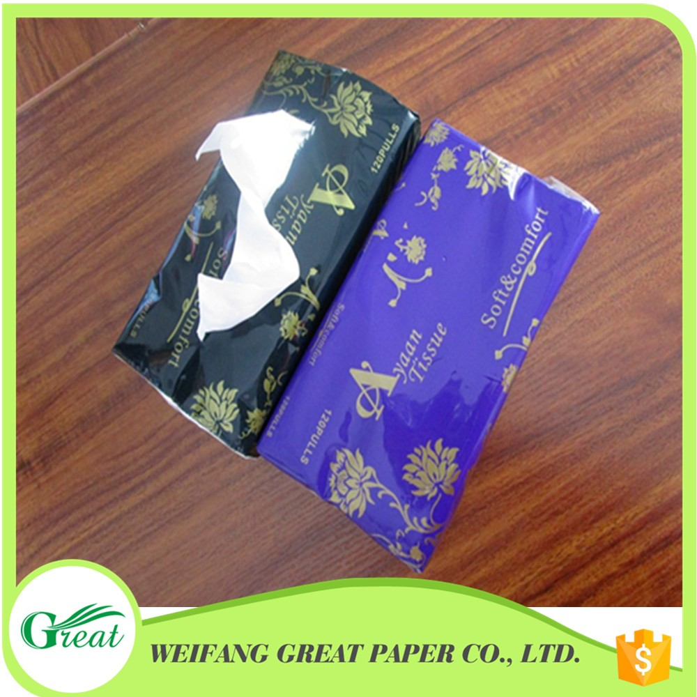 2 ply tissue OEM brands virgin wood pulp soft pack