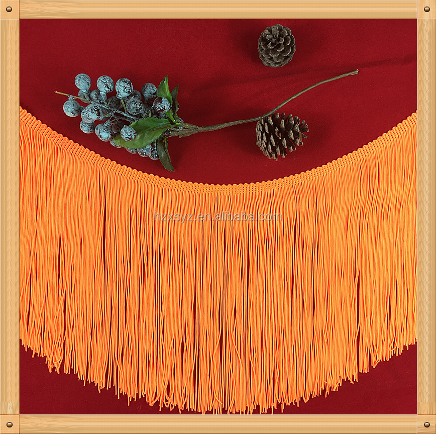 Eco-friendly fringe for long dresses wholesale textile tassel fringe