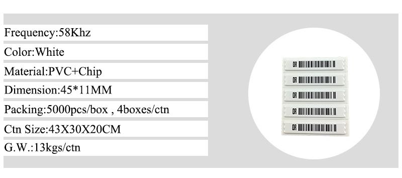 Розничная продажа противоугонные самоклеющиеся AM мягкие этикетки EAS 58 кГц Retail Anti-theft Self Adhesive AM Soft Labels EAS 58khz Security Barcode Alarm DR Label