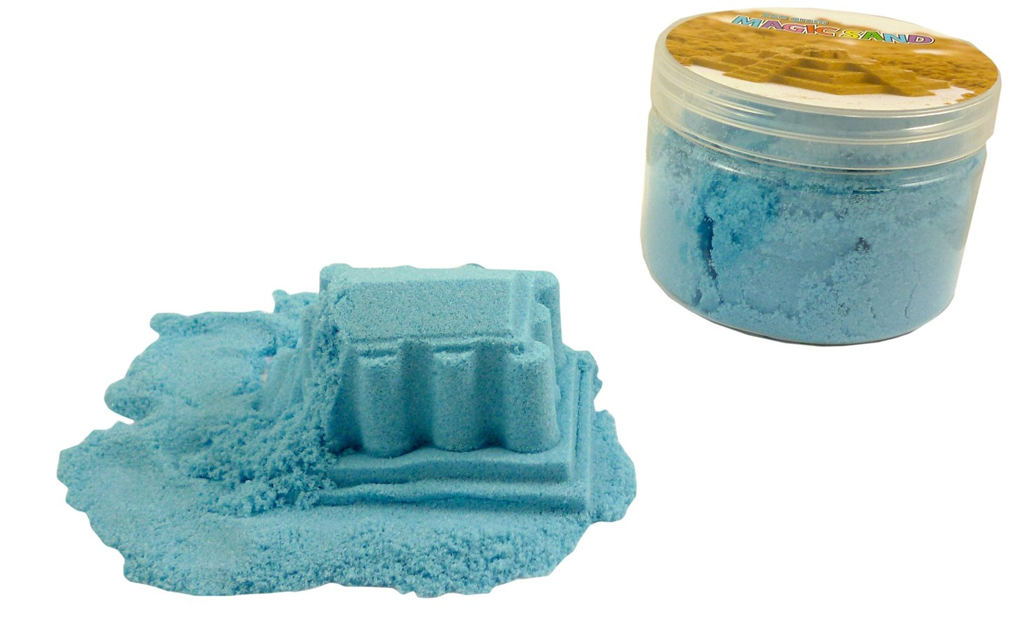 Magic Sand Refill - 250g- LIGHT BLUE - Play Sand With No Mess! - Sculpture, M...