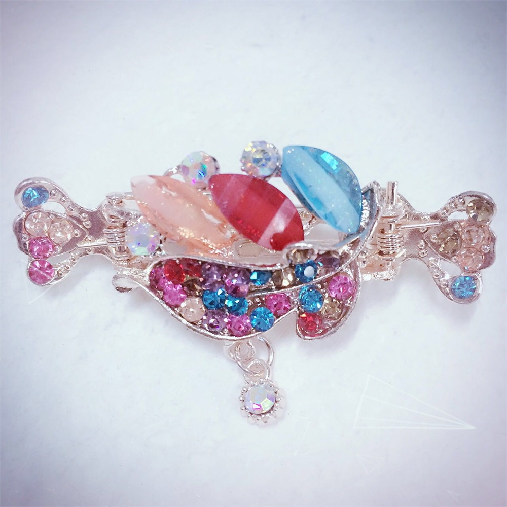 Lovely Charming Rhinestone Hair Clip Claw